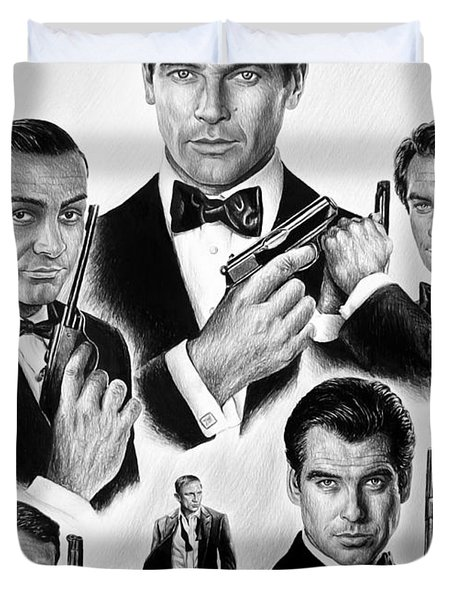 Licence To Kill  Bw Duvet Cover by Andrew Read