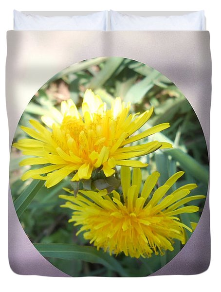 Life Is Made Up Of Dandelions Duvet Cover by Patricia Keller