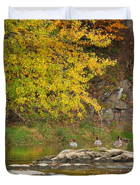Life On The River Duvet Cover by Bill  Wakeley