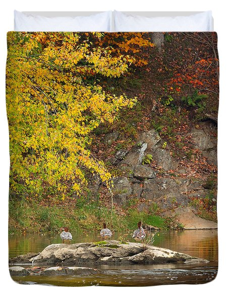 Life On The River Square Duvet Cover by Bill Wakeley