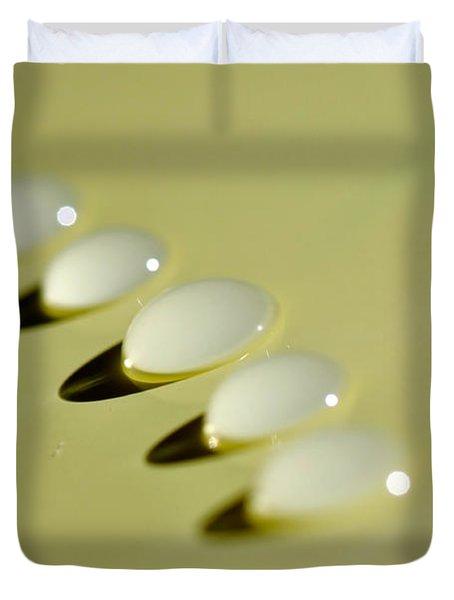Light - Droplets - Shadows Duvet Cover by Kaye Menner