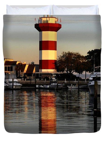 Light House At Harbour Town Duvet Cover by Dan Friend