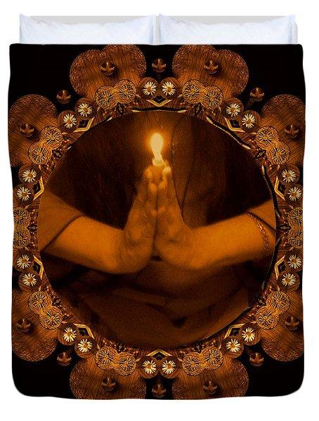 Light In The Dark Duvet Cover by Pepita Selles