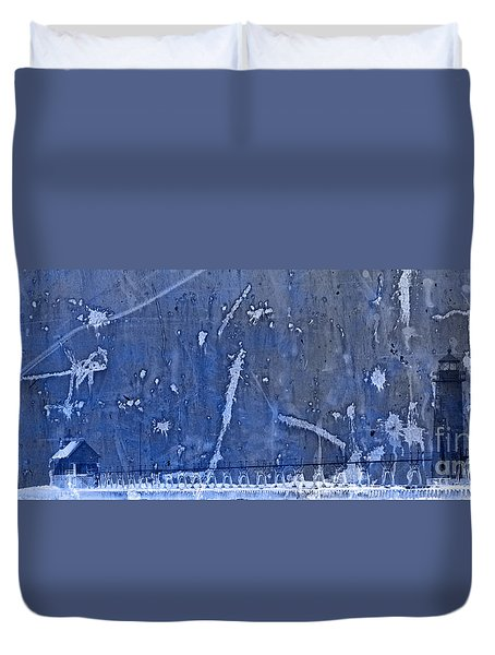 Lighthouse Blues Duvet Cover by John Stephens