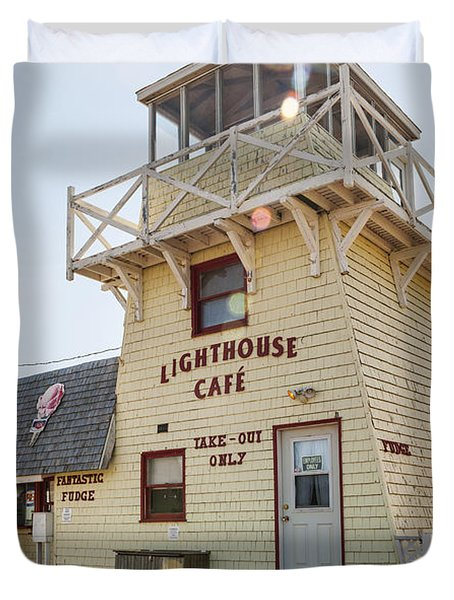 Lighthouse Cafe In North Rustico Duvet Cover by Elena Elisseeva