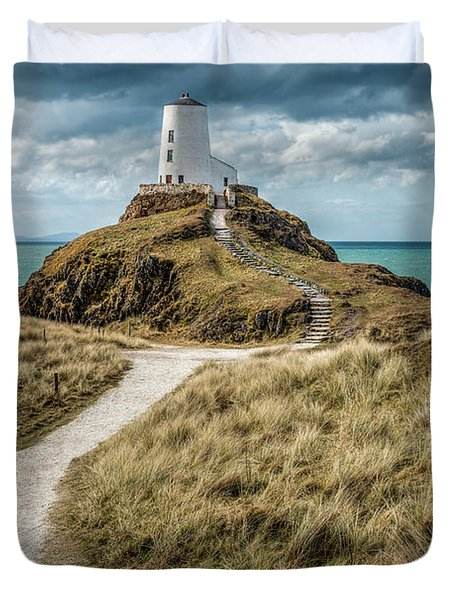 Lighthouse Path Duvet Cover by Adrian Evans