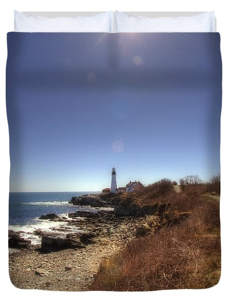 Lighthouse Path Duvet Cover by Joann Vitali