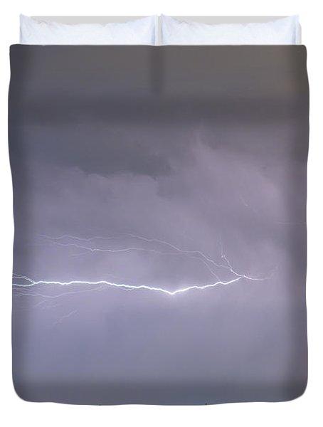 Lightning Bolting Across the Sky Duvet Cover by James BO  Insogna