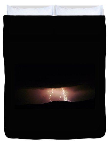 Lightning Dancing Duvet Cover by Jeff Swan