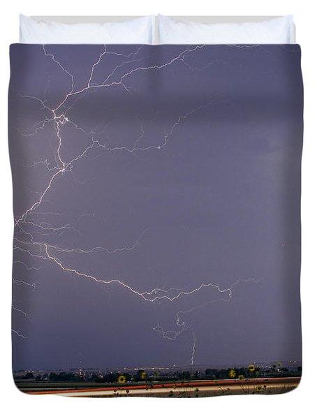 Lightning Thunderstorm Dragon Duvet Cover by James BO  Insogna