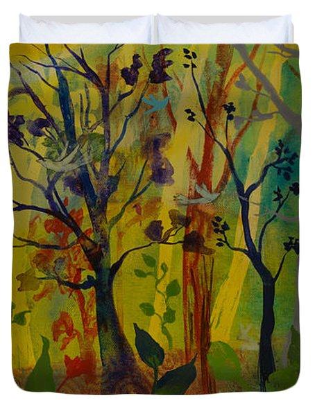 Light's Wonderful Secret Duvet Cover by Robin Maria  Pedrero