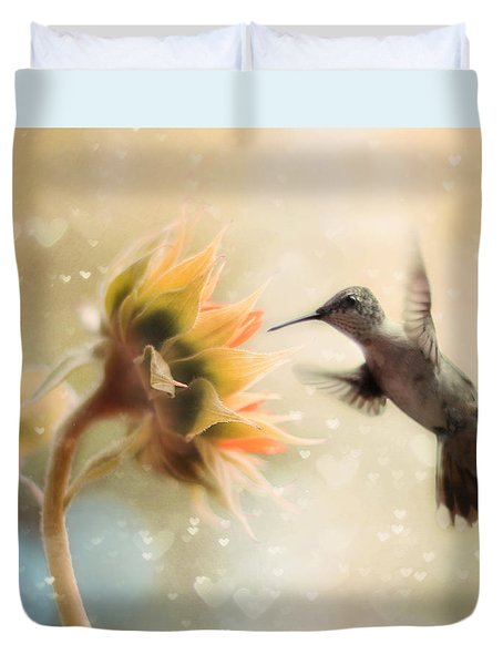 Like a Moth To a Flame Duvet Cover by Amy Tyler