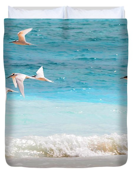 Like Birds In The Air Duvet Cover by Jenny Rainbow