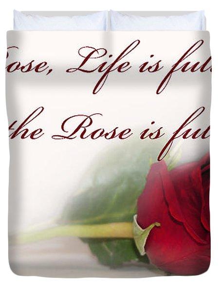 Like the Rose Duvet Cover by Mechala  Matthews