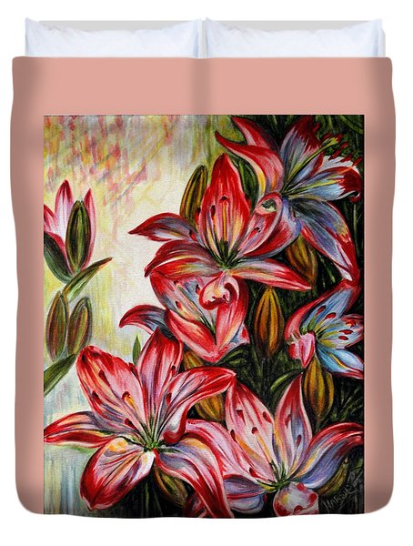 Lilies Duvet Cover by Harsh Malik