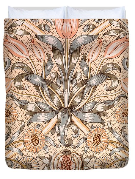 Lily and Pomegranate wallpaper design Duvet Cover by William Morris
