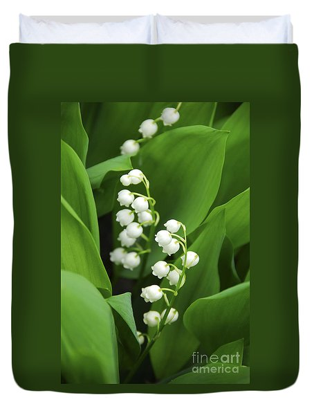 Lily-of-the-valley  Duvet Cover by Elena Elisseeva