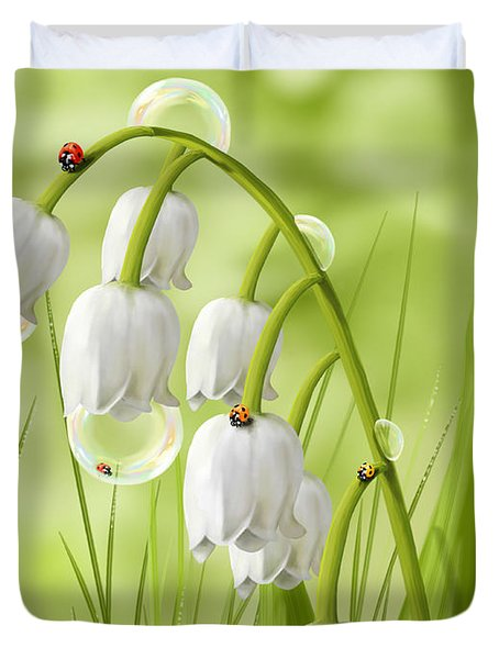 Lily Of The Valley Duvet Cover by Veronica Minozzi