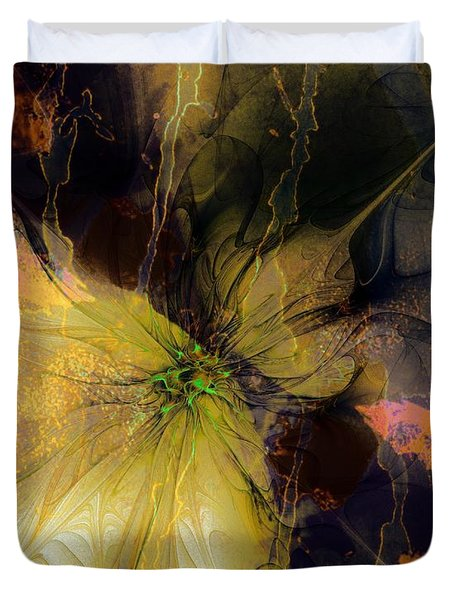 Lily Pond Reflections Duvet Cover by Amanda Moore