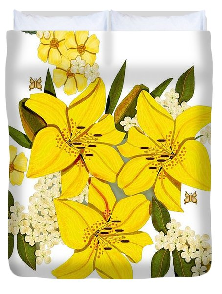 Lily Triplets Duvet Cover by Anne Norskog