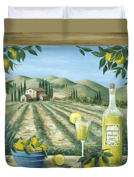 Limoncello Duvet Cover by Marilyn Dunlap