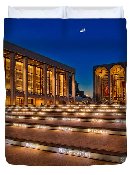 Lincoln Center Duvet Cover by Susan Candelario
