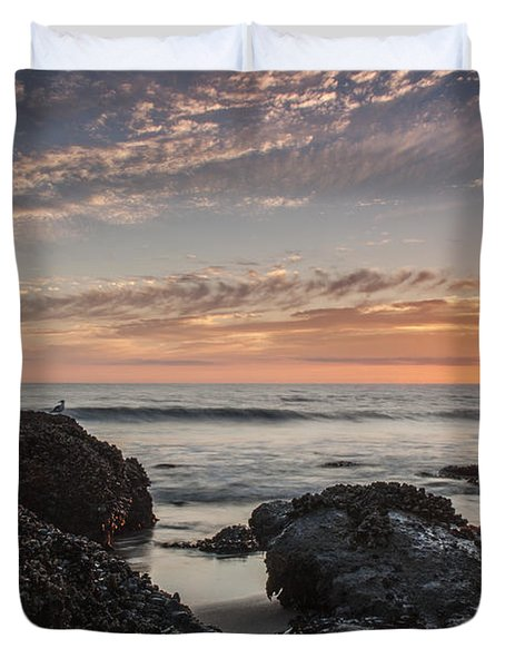 Lincoln City Beach Sunset - Oregon Coast Duvet Cover by Brian Harig