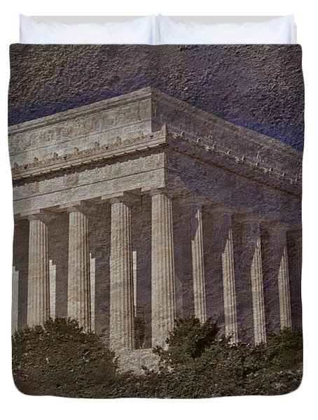 Lincoln Memorial Duvet Cover by Skip Willits