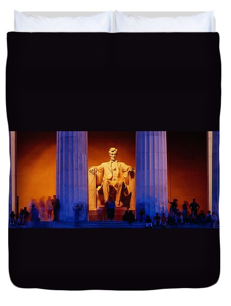 Lincoln Memorial, Washington Dc Duvet Cover by Panoramic Images