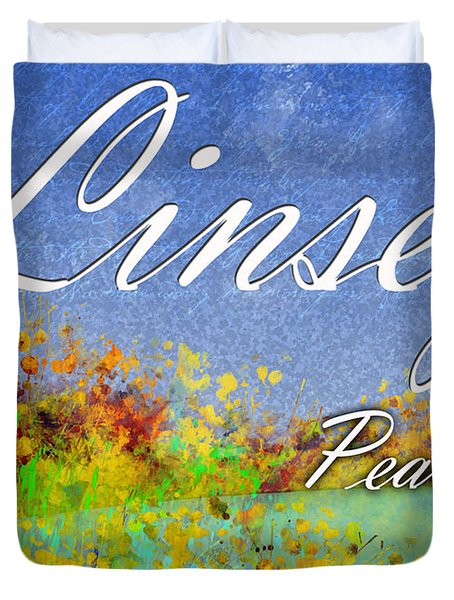 Linsey - Peaceful Duvet Cover by Christopher Gaston