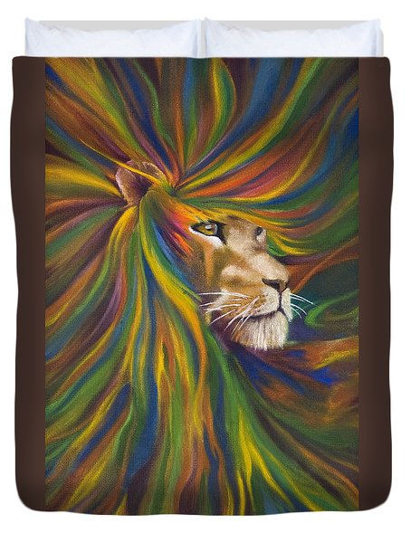 Lion Duvet Cover by Kd Neeley