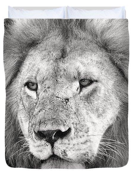 Lion King Duvet Cover by Adam Romanowicz