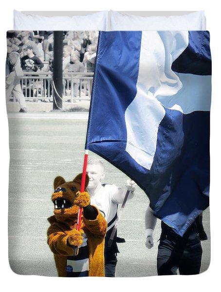 Lion Leading The Team Duvet Cover by Dawn Gari