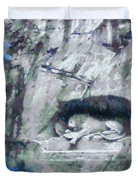 Lion Of Lucerne Duvet Cover by Dan Sproul