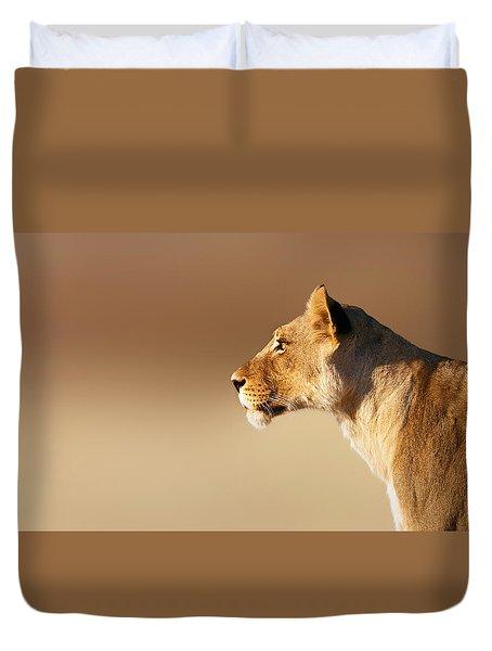 Lioness Portrait Duvet Cover by Johan Swanepoel