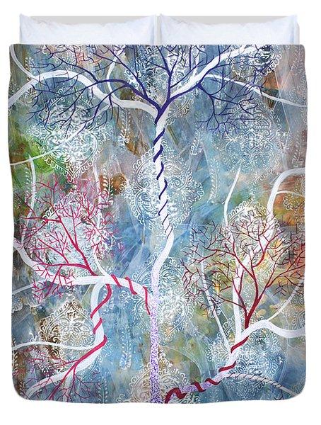 Lipid Branches Duvet Cover by Sumit Mehndiratta
