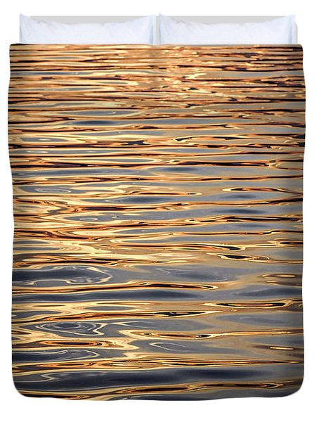 Liquid Gold Duvet Cover by Elena Elisseeva