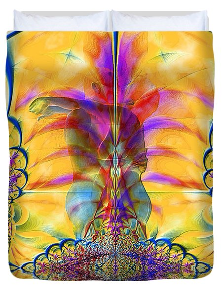 Liquid Lace Duvet Cover by Kurt Van Wagner