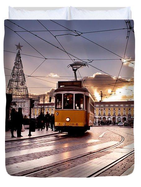 Lisbon Light Duvet Cover by Jorge Maia