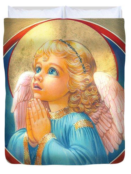 Little Angel Duvet Cover by Zorina Baldescu