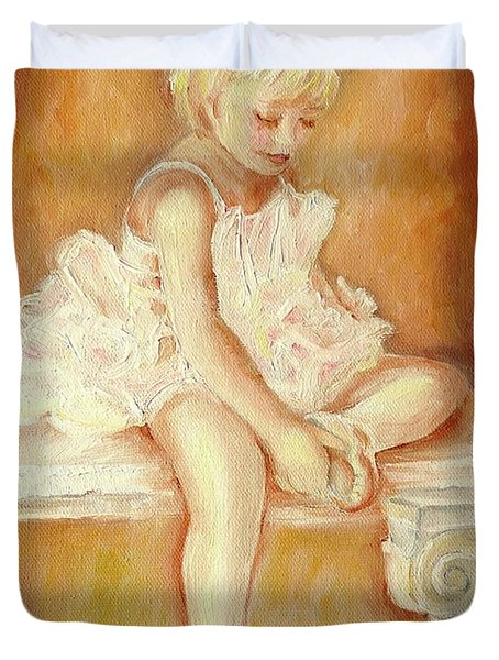 LITTLE BALLERINA Duvet Cover by CAROLE SPANDAU