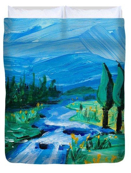 Little Landscape Duvet Cover by Lidija Ivanek - SiLa