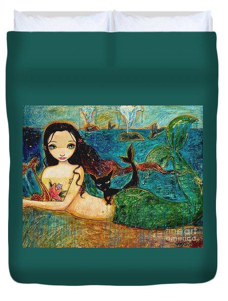 Little Mermaid Duvet Cover by Shijun Munns