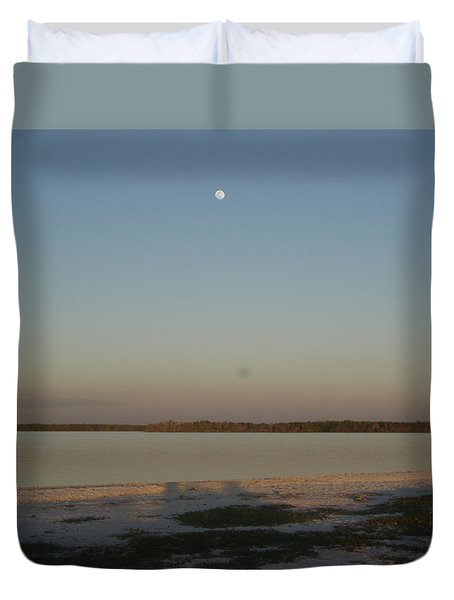 Little Moon Duvet Cover by Robert Nickologianis