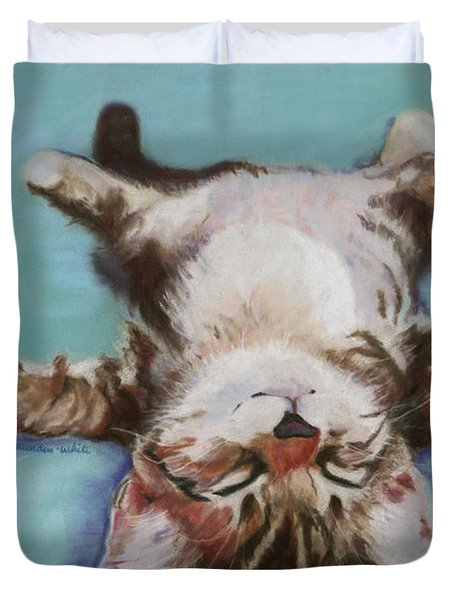 Little Napper  Duvet Cover by Pat Saunders-White
