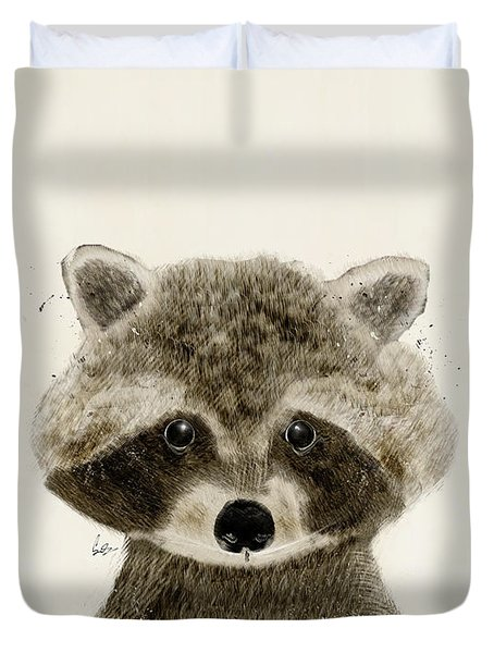 Little Raccoon Duvet Cover by Bri B