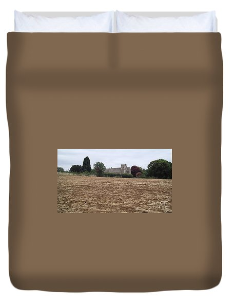 Little Rissington Church 2 Duvet Cover by John Williams