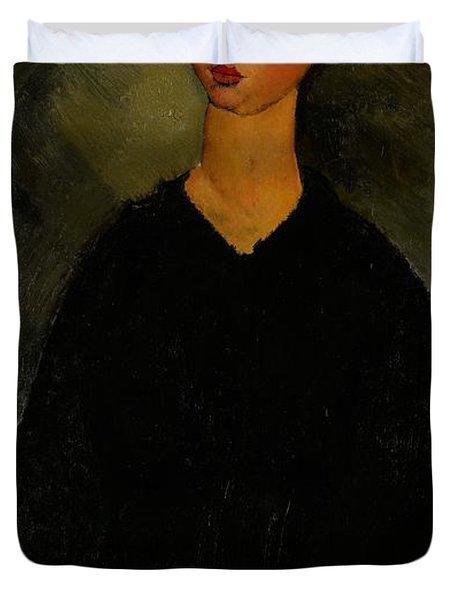 Little Servant Girl Duvet Cover by Amedeo Modigliani