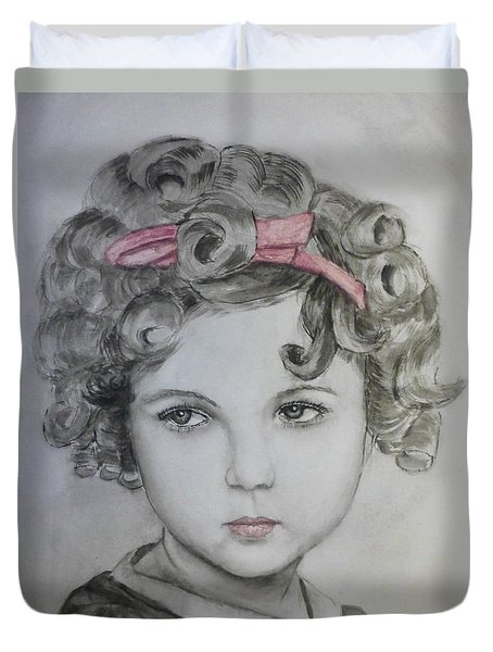 Little Shirley Temple Duvet Cover by Kelly Mills