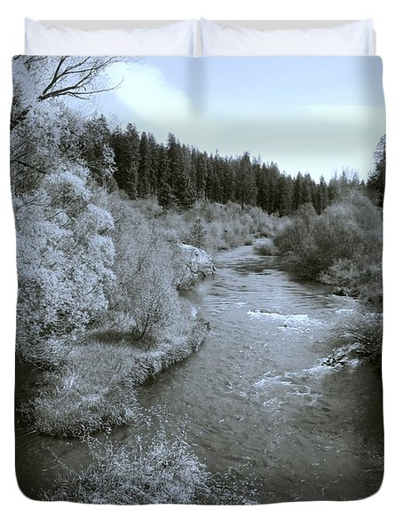 LITTLE SPOKANE RIVER BEAUTY Duvet Cover by Daniel Hagerman
